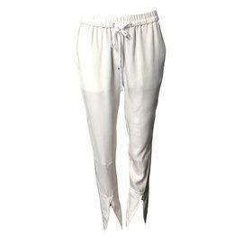 3.1 Phillip Lim-3.1 Phillip Lim pantalon soie blanc-Blanc ... 1cba945279c9