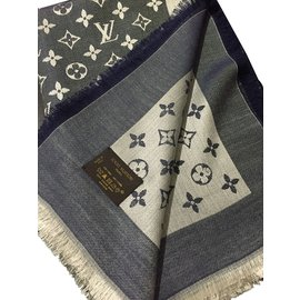 Louis Vuitton-Monogram châle-Bleu