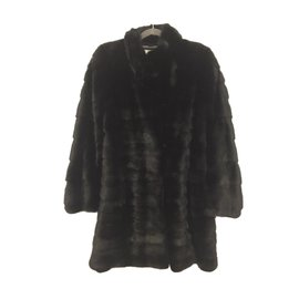 Yves Salomon-Mink coat-Black
