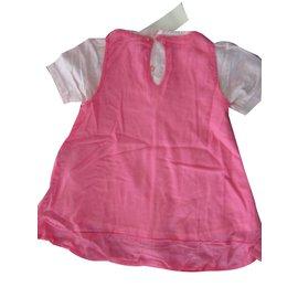 Kenzo-Robe Kenzo 18 mois neuve etiquette (2 pieces)-Rose