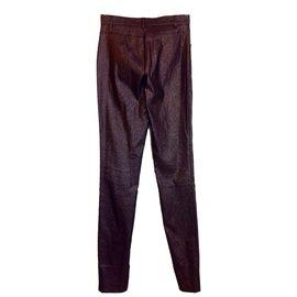 Gucci-Pantalons-Marron,Métallisé
