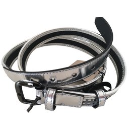 Burberry-Belts-Silvery