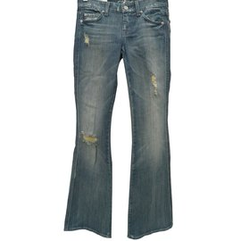 7 For All Mankind-Lexie petite fit 'a' pocket-Blue