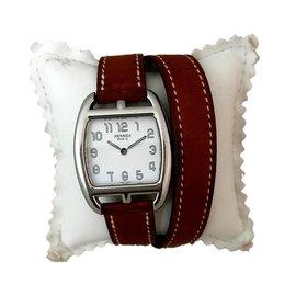 Hermès-Cape Cod Tonneau-Silvery,White