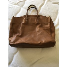 Balenciaga-Balenciaga sac papier A4-Caramel