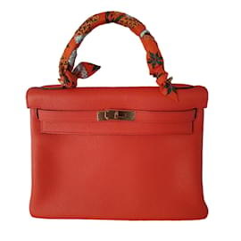 Hermès-KELLY RETOURNE 32 ORANGE POPPY-Autre