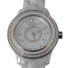 Dior-MONTRE DIOR VIII DIAMANTS-Blanc