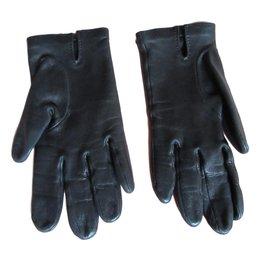 Hermès-Gants Hermès Soya-Noir
