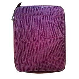 Hermès-Housse agenda - Porte-cartes Hermès-Violet
