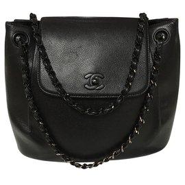 Chanel-Sac Chanel so black sublime-Noir ... cab931b5bc