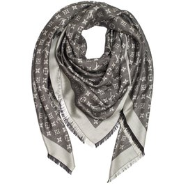 Louis Vuitton-Monogram stole-Noir