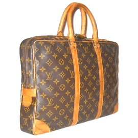 Louis Vuitton-LOUIS VUITTON vintagePortedocument Monogram.-Marron