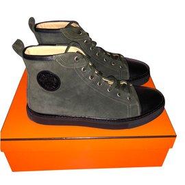 Hermès-Jimmy Sneakers-Khaki