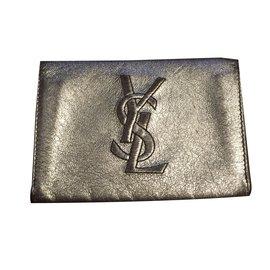 Yves Saint Laurent-Porte monnaie Yves Saint Laurent-Argenté