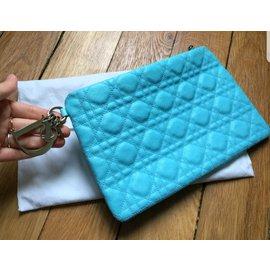 Dior-Pochette Lady Dior-Bleu