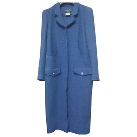 Chanel-Manteau Chanel-Bleu