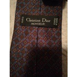 Christian Dior-Cravate rayée Christian Dior-Multicolore