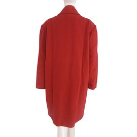 Chloé-Chloe Double Breasted Wool Coat-Red