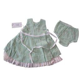 Ralph Lauren-Robe + culotte Ralph Lauren 3 mois neuve etiquette-Blanc,Vert