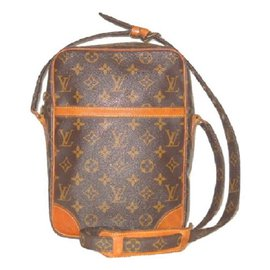 Louis Vuitton-LOUIS VUITTON vintage Danube MM  Monogram.-Marron,Orange