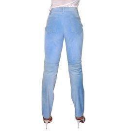 Hermès-Pantalons-Bleu