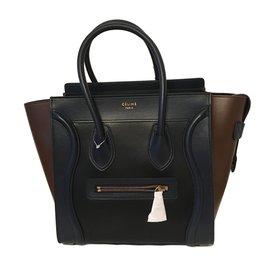 Céline-Luggage micro celine-Marron,Noir,Bleu Marine