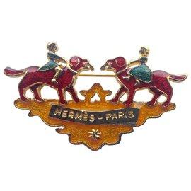 Hermès-les chiens-Multicolore