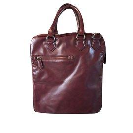 Zara-Bags Briefcases-Dark red
