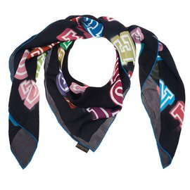 Louis Vuitton-Foulards-Noir