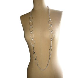 Chloé-Long necklaces-Silvery