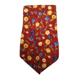 Emanuel Ungaro-Cravate rouge Emmanuel Ungaro-Multicolore