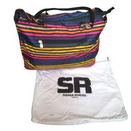 99ec3c75a850 Sonia Rykiel-Sac cabas zippé à rayures multicolores Sonia Rykiel-Autre ...
