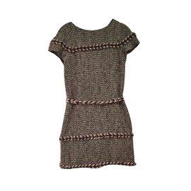Chanel-Robe Chanel en coton-Gris