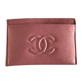Chanel-card case chanel pink-Rose