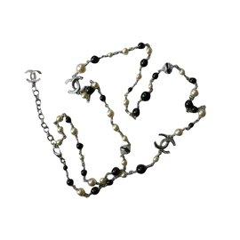 Chanel-sautoir Chanel-Argenté