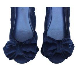 Louis Vuitton-Ballerines-Bleu Marine