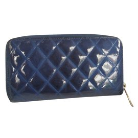 Chanel-Portefeuilles-Bleu
