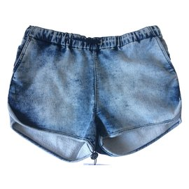 Eleven Paris-Shorts-Bleu