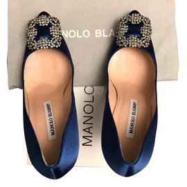 866c70abf9aecf Manolo Blahnik-Hangisi-Bleu Manolo Blahnik-Hangisi-Bleu