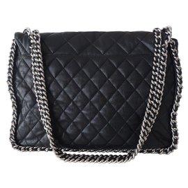 Chanel-SAC CHANEL JUMBO CHAIN AROUND-Noir