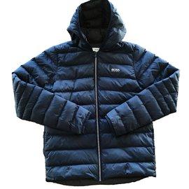 Hugo Boss-Boy Coats Outerwear-Navy blue