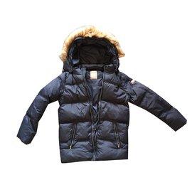 Napapijri-Boy Coats Outerwear-Navy blue