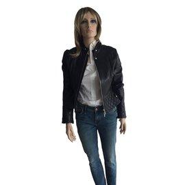 Karen Millen-Blouson en cuir perfecto Karen Millen-Noir