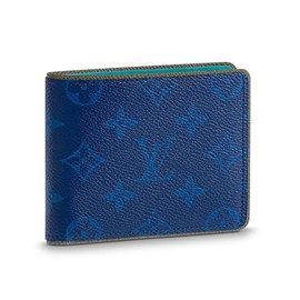 Louis Vuitton-Slender mens wallet Louis Vuitton-Blue