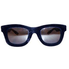 Italia Independent-Lunettes homme-Noir,Bleu