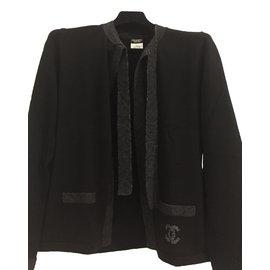 Chanel-Pulls, Gilets-Noir,Gris