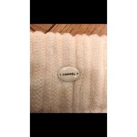 Chanel-Chaussettes cuissardes-Écru