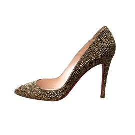 Christian Louboutin-Heels-Golden