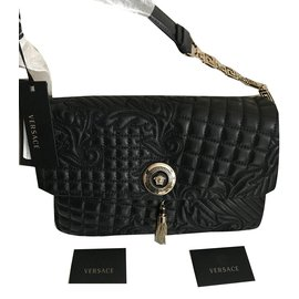 ce5e3179736f Gianni Versace-VERSACE VANITAS MEDEA QUILTED BAROCCO BAG - BLACK - Brand  New!