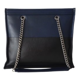 Chanel-CABAS CHANEL SHOPPING BOY-Noir,Bleu Marine